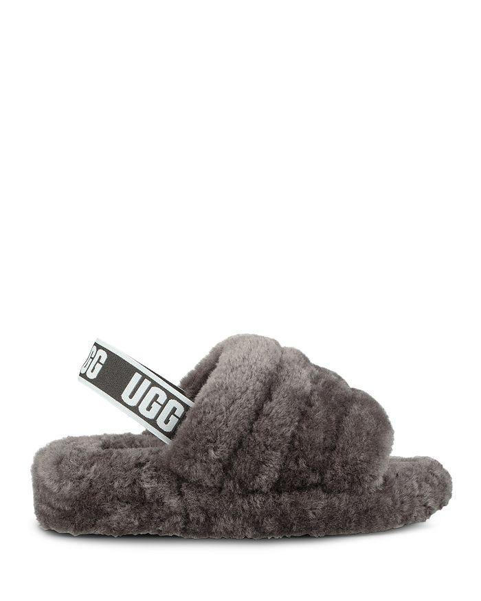 e10957cb7b7 Women's Fluff Open Toe Fur Slide Slippers