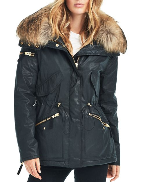 SAM Devon Fur Trim Short Parka