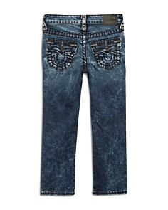 True Religion - Boys' Geno Super T Stretch Straight-Leg Acid-Wash Jeans - Little Kid, Big Kid