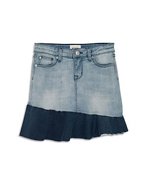 Hudson Girls AsymmetricalRuffle Denim Skirt Big Kid  100 Exclusive