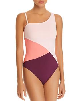 Bleu Rod Beattie - Around The Block Asymmetric One Piece Swimsuit