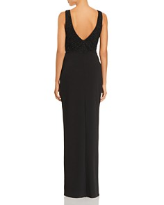 AQUA - Beaded Scuba Crepe Gown - 100% Exclusive