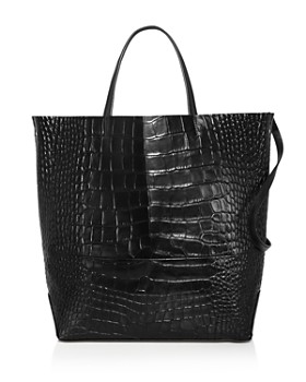 Alice.D - Large Croc-Embossed Leather Tote Bag - 100% Exclusive