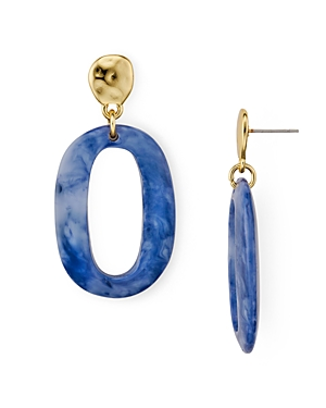 Aqua Oval Lucite Earrings - 100% Exclusive