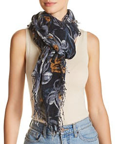 Chan Luu - Painterly Floral Print Scarf