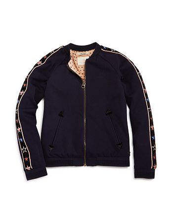 Scotch R'Belle - Girls' Embroidered-Star Bomber Jacket - Little Kid, Big Kid