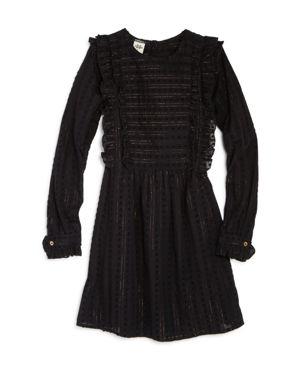Scotch R'Belle Girls' Ruffled Metallic-Striped Dress - Little Kid, Big Kid
