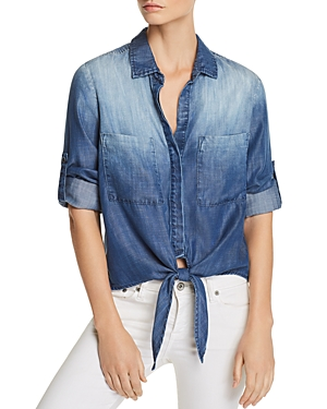 Bella Dahl Tie-Front Chambray Shirt