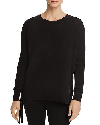 C by Bloomingdale's - Lace-Up Cashmere Sweater - 100% Exclusive