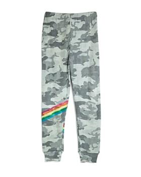 Flowers by Zoe - Girls' Camo-Print Rainbow Stripe Sweatpants - Big Kid