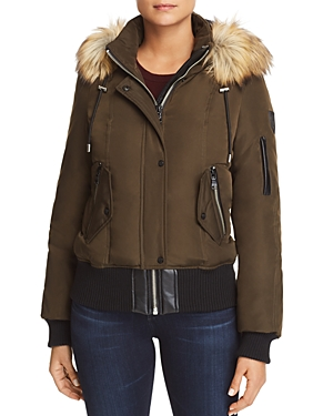 Vince Camuto Faux Fur Trim Short Puffer Coat-Women