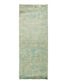 """Solo Rugs - Vibrance 60 Hand-Knotted Runner Rug, 3' x 7' 10"""""""