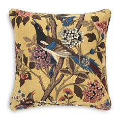 "Mitchell Gold Bob Williams - Charleston Multicolor Linen Accent Pillow, 22"" x 22"""