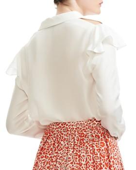 e16afce98a275 ... Maje - Chella Button-Down Silk Shirt