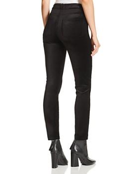 PAIGE - Hoxton Ankle Straight Velvet Jeans in Black Overdye