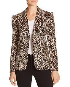 Rebecca Taylor - Leopard-Printed Velvet Blazer