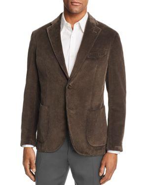 L.B.M . Slim Fit Garment-Dyed Corduroy Sport Coat in Brown