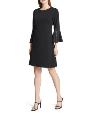 Calvin Klein Embellished Bell-Sleeve Dress 3063264