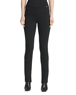 Calvin Klein - Pinstriped Straight-Leg Pants