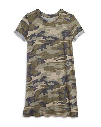 AQUA - Girls' Camo-Print T-Shirt Dress, Big Kid - 100% Exclusive