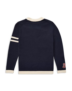 Ralph Lauren - Boys' Cotton V-Neck  Varsity Cardigan - Big Kid