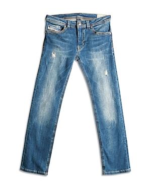 Diesel Boys' Thanaz Distressed Straight Jeans - Big Kid