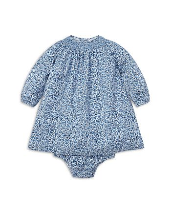 ceb580697658 Ralph Lauren Girls  Floral Smocked Cotton Dress   Bloomers Set ...