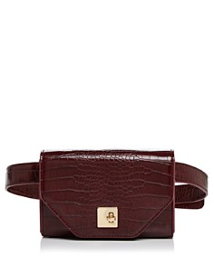 AQUA - Medium Croc-Embossed Convertible Belt Bag - 100% Exclusive