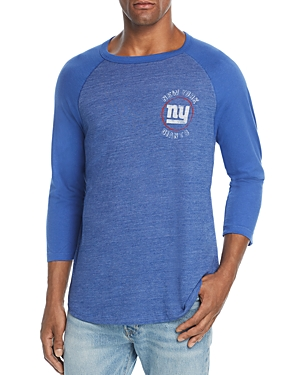 Junk Food New York Giants Tonal Raglan Tee