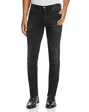 Belstaff Westering Straight Slim Fit Jeans in Washed Black