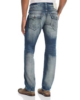 True Religion - Geno Straight Slim Jeans in Combat Blue