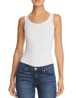YUMMIE Seamlessly Shaped Tank Bodysuit in White