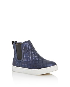 STEVE MADDEN - Girls' JQuest Quilted Shimmer High-Top Sneakers - Little Kid, Big Kid