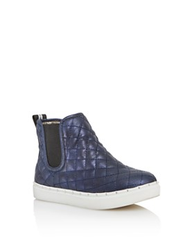 STEVE MADDEN - Girls' JQuest Quilted Shimmer High-Top Sneakers - Little Kid, Big Kid