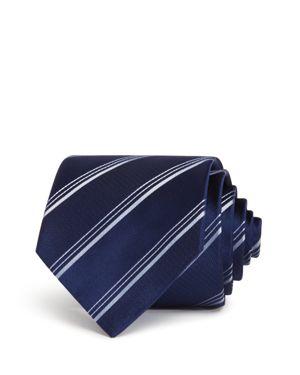 Emporio Armani Textured-Stripe Classic Silk Tie