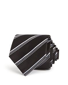 Emporio Armani Textured-Stripe Classic Silk Tie - Bloomingdale's_0