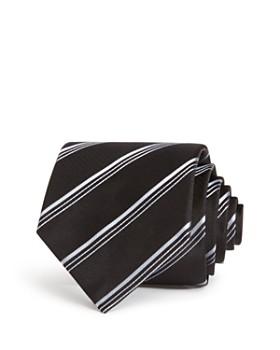 Emporio Armani - Textured-Stripe Classic Silk Tie