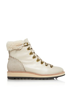 kate spade new york - Women's Maira Round Toe Leather & Suede Booties