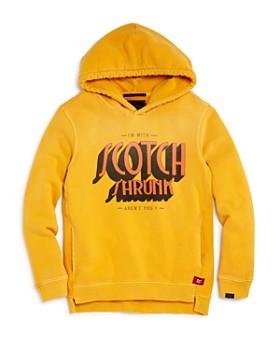 Scotch Shrunk - Boys' Terry Graphic Logo Hoodie - Little Kid, Big Kid