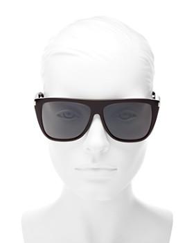 Saint Laurent - Women's Flat Top Square Sunglasses, 59mm