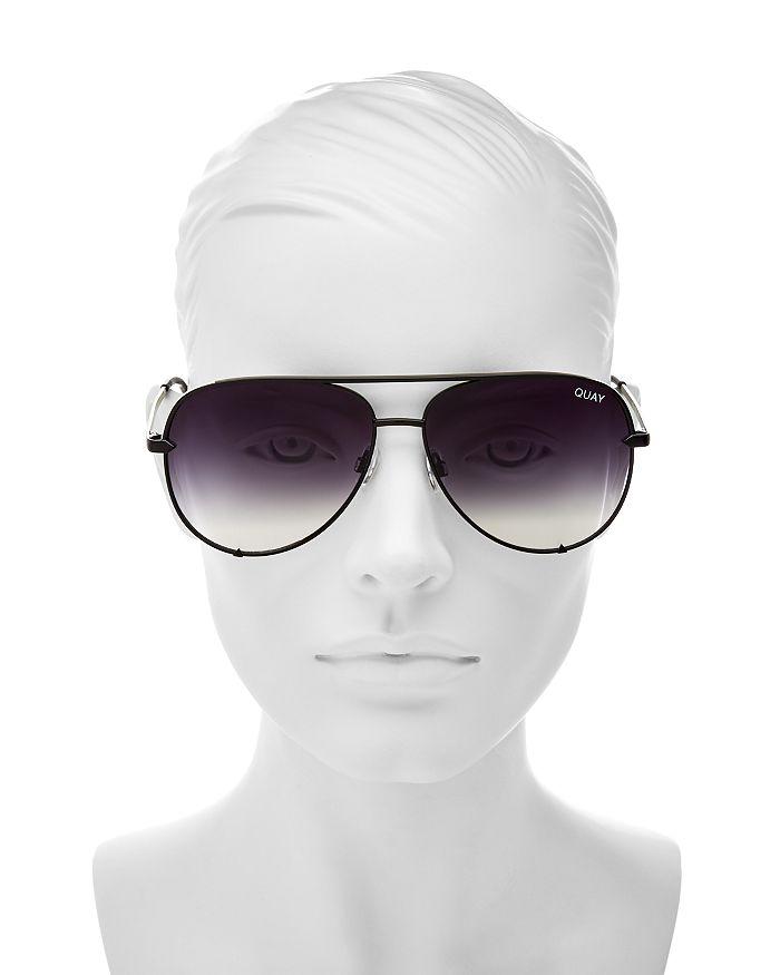 32536b3ebd Quay Quay Women s High Key Brow Bar Aviator Sunglasses
