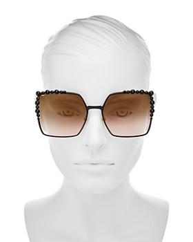 Fendi - Women's Embellished Oversized Square Sunglasses, 60mm