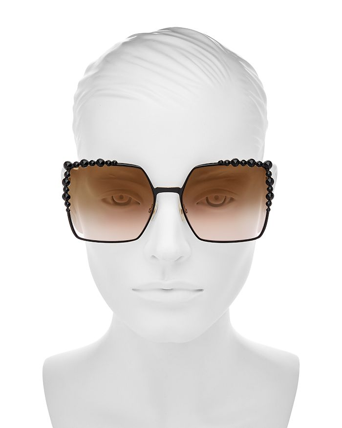bb783c5f244ca Fendi - Women s Embellished Oversized Square Sunglasses