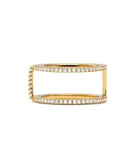 Michael Kors - Custom Kors Pavé Nesting Ring Jacket in 14K Gold-Plated Sterling Silver, 14K Rose Gold-Plated Sterling Silver or Solid Sterling Silver