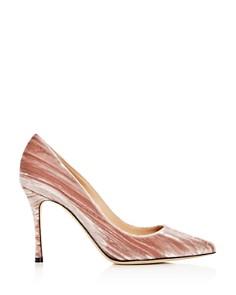 Sergio Rossi - Women's Velvet Pointed Toe Pumps