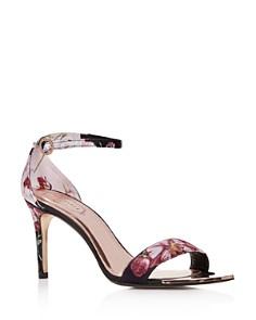 Ted Baker - Women's Mylli Floral Satin Ankle Strap High-Heel Sandals