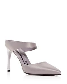 Oscar de la Renta - Women's Pointed Toe High-Heel Mules