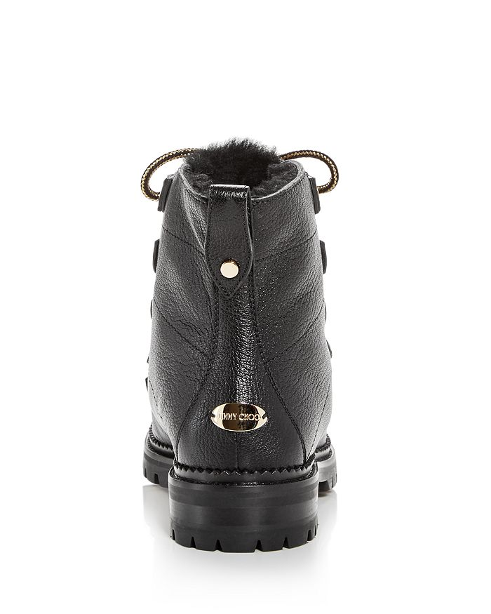 9d067b02167e Jimmy Choo Women s Hillary Leather   Shearling Hiking Boots ...