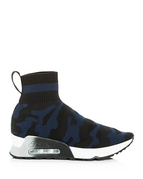 Ash - Women's Lulu Camo Knit High Top Sneakers