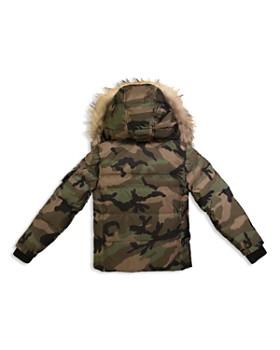 SAM. - Boys' Camo Mountain Fur-Trimmed Down Jacket - Big Kid
